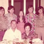 The Tan Family, circa 1970s. From left to right: Jerry Tan, Tan Siu Lin, Willie Tan, Lilly Tan, Lam Pek Kim, Henry Tan, Raymond Tan