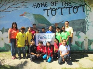 Students from Dandan Elementary School (photo from Saipan Tribune)