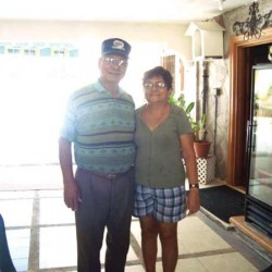 Julian and Lydia Calvo at their home on Rota. (Contributed Photo)